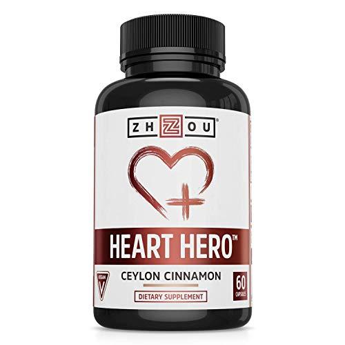Zhou Ceylon Cinnamon | Supports Blood Sugar, Heart Health and Joint Mobility | True Cinnamon Native to Sri Lanka | 30 Servings, 60 CT