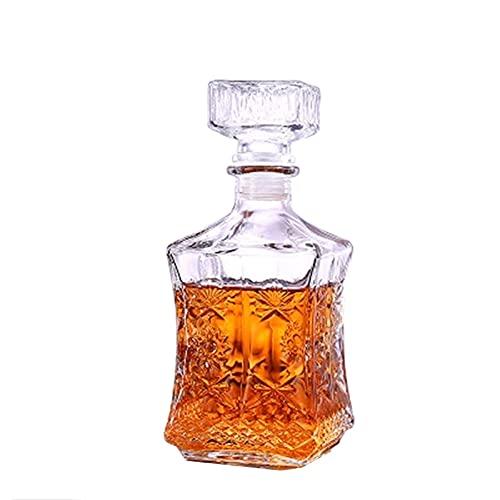 Licorera Sencillez Cerveza Decantador De Cristal 500ML / 800ML Botella Cristal Whisky Contenedores Hogar Barra Herramientas 9X23CM CHENGYI (Size : 500ML)