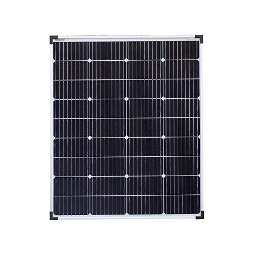 enjoy solar PERC Mono 100W (XL) 12V 9-Busbars (9BB) 166 * 166mm Panel solar monocristalino ideal para casas móviles, cobertizos de jardín, barcos