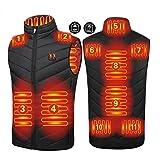 joyvio Chaleco calefactable para unisex,chaleco calefactable eléctricamente,chaleco calefactor infrarrojo,chaqueta tipo chaleco calefactable con temperatura ajustable para montar al aire libre,esquiar