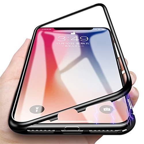 Gift_Source Galaxy A2 Core Funda, [Negro] Funda de Adsorción Magnética Transparente Cubierta de Trasera de Vidrio Templado Cubierta Dura Estuche para Samsung Galaxy A2 Core SM-A260F (5.0')