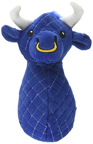 TrustyPup Bull Dog Toy with Silent Squeaker