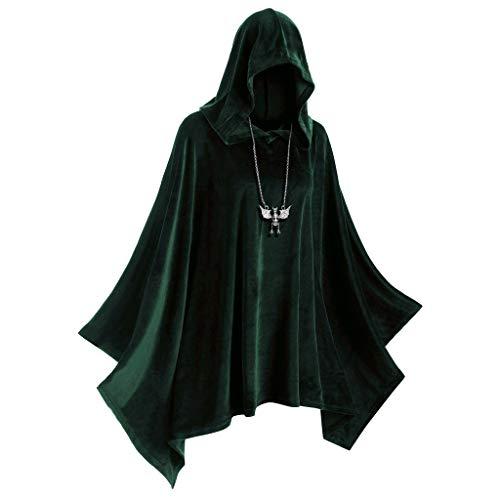 Eternali Unisex Halloween Erwachsener Samt Hoodie Umhang Vampire Devil Hexe Cosplay Kostüm mit Kapuze Cape Herren Damen Doppelseitig Festliche Party Hooded Mantel Maske Prom Dress Up Outwear