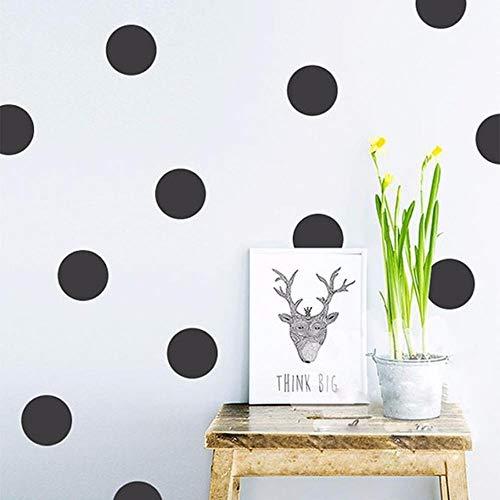 Coner Stippen Muurstickers Voor Kinderkamer Gouden Stippen Decals Cirkel Kleine Polka Sticker Home Decor Muurschildering, Zwart, 5cm20st