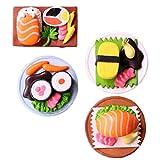 Supvox 4 Piezas de Comida de Casa de Muñecas de Sushi en Miniatura Juego de Cocina de Simulación para Micro Paisaje Accesorios de Jardín de Hadas (Estilo Aleatorio)