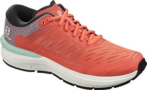 SALOMON Shoes Sonic, Scarpe Running Donna, Multicolor (Camelia/Bianco/Quaglia), 38 2/3 EU