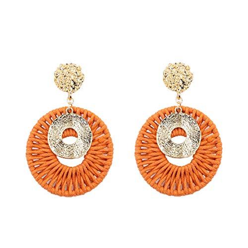 BLINGBRY goudkleurige rotan oorbellen voor vrouwen handgemaakte ronde haakjes oorring gehamerd vintage oorringen hanger instructies sieraden