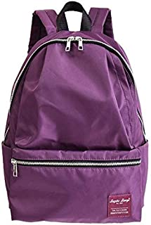 FYXKGLa Waterproof Nylon Commuter Leisure Travel Backpack Backpack Bag (Color : Purple)