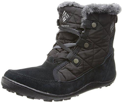 Columbia Women's Minx Shorty Omni-Heat Snow Boot, Black, Shale, 8 B US