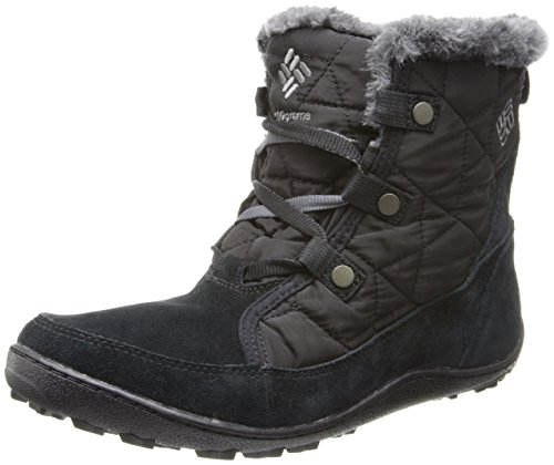 Columbia Women's Minx Shorty Omni-Heat Snow Boot, Black, Shale, 8.5 B US