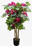Seidenblumen Roß Bougainvillea 90cm DA künstlicher Baum Pflanzen Kunstbaum Dekobaum Kunstpflanzen Zimmerpflanze