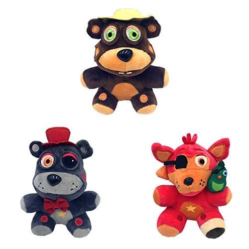 Leyue Juguetes de peluche 3 unids/lote peluches de juguetes de peluche Cinco noche en Freddy Peluche Doll Animals Bear Conejo juego Juguetes de Navidad rellenos suaves para niños