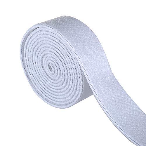 Gourd 5 Yards White Plush Elastic,Soft Comfortable Sewing Elastic (3/4-inch)