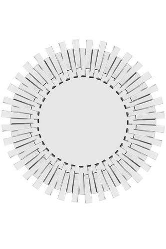 Modern Unique 3D Sunburst All Glass Venetian Round Wall Mirror, Silver, 3.5 x 120 x 120 cm