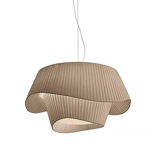 Zenghh Chandelier de romance francés 60 cm minimalismo plisado diseño pliegues techo...