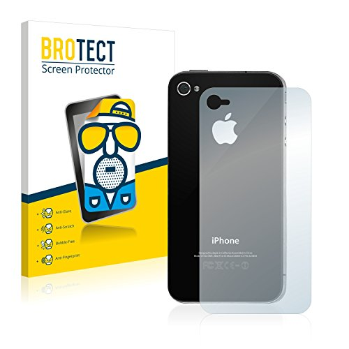 BROTECT 2X Entspiegelungs-Schutzfolie kompatibel mit Apple iPhone 4S (Rückseite) Bildschirmschutz-Folie Matt, Anti-Reflex, Anti-Fingerprint