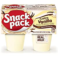 12-Pack Snack Pack Vanilla Pudding Cups (4-Count)