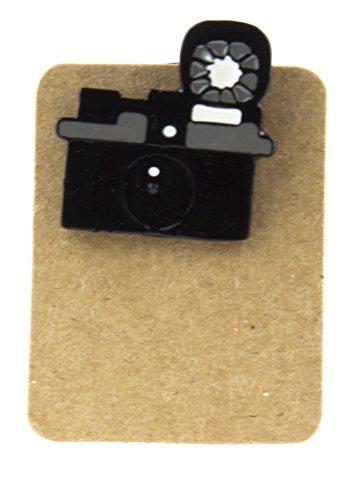 Anstecknadel aus Metall, Motiv: alte Retro-Kamera, Emaille