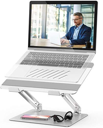 Duchy - Soporte para ordenador portátil ajustable, multiángulo para la refrigeración del portátil, soporte ergonómico plegable, compatible con ordenadores portátiles (10-17 pulgadas)