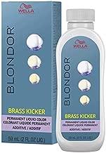 Wella Blonder Permanent Liquid Toner - Brass Kicker Violet Color Additive Liquid Color 2oz