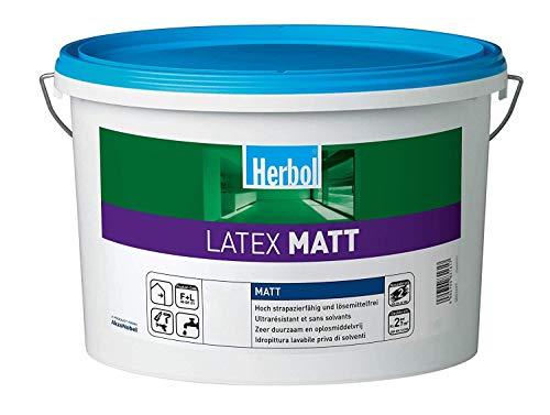 Herbol Latex Matt Innenbeschichtung RAL 9001 Cremeweiß 12,5 Liter