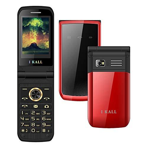 I KALL K60 Premium Flip Mobile (2.4 Inch, 1500 mAh) (Red)