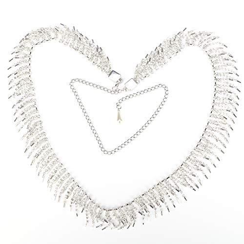 HEEPDD buikketting, 40,6in kristallen strass steentjes buik dans ketting buik dansen riem met strass steentjes uitvoeren kleding accessoires
