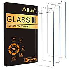 WORKS FOR iPhone 11/iPhone XR (2019/2018 release) 6.1 Inch display ,0.33mm tempered glass screen protector. Featuring maximum protection from scratches, scrapes, and bumps. Specialty: Due to the rounded design of the iPhone 11/XR and to enhance compa...