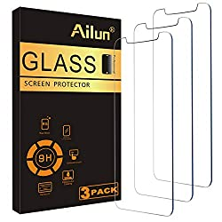 WORKS FOR iPhone 11/iPhone XR 6.1 Inch 0.33mm tempered glass screen protector. Featuring maximum protection from scratches, scrapes, and bumps. Specialty:to enhance compatibility with most cases, the Tempered glass does not cover the entire screen. H...