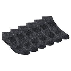 professional PUMA Men's Low Cut Socks, Gray / Black, Socks Size: 10-13 / Shoes Size: 6-12 (6 packs)
