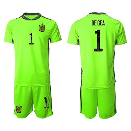 NMLB Camiseta de portero de España para niños de fútbol, camiseta de manga corta, diseño de Dő Gőä 2021 verde 5XS