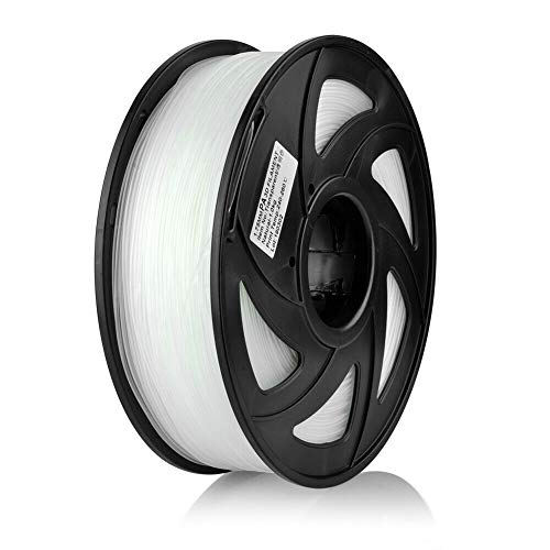 S SIENOC 1 paquete de filamento impresora 3D PA(Nylon) 1.75mm Impresora - Con 1 kg de carrete (PA(Nylon) Transparente)