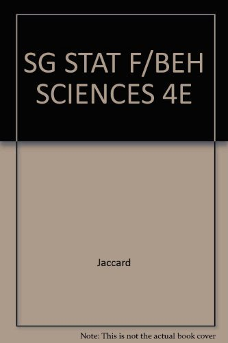 Study Guide for Statistics for the Behavioral Sciences, 4th Edition