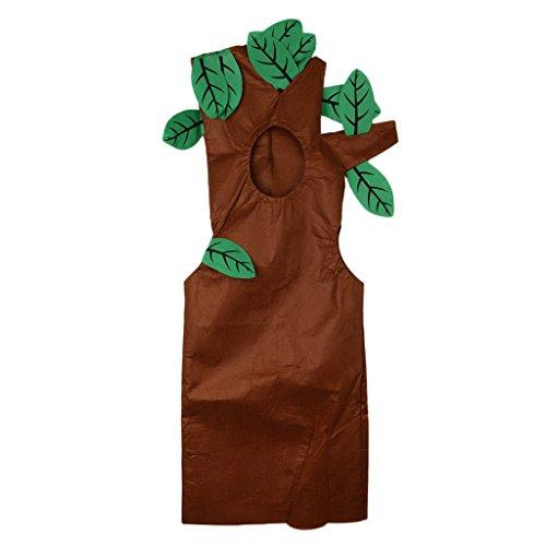 Disfraz Vegetal Árbol Actuación Sombrero Verde Marrón Bosque Tejido Rígido Traje Atractivo Dibujo Animado Semana de Libro