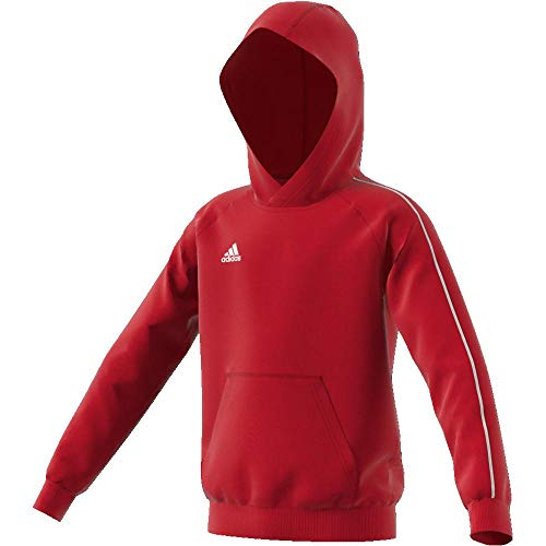 Adidas CORE18 Hoody Y Sudadera con Capucha, Unisex Niños, Rojo (Power Red/White), 15-16 años (Talla del Fabricante 176)
