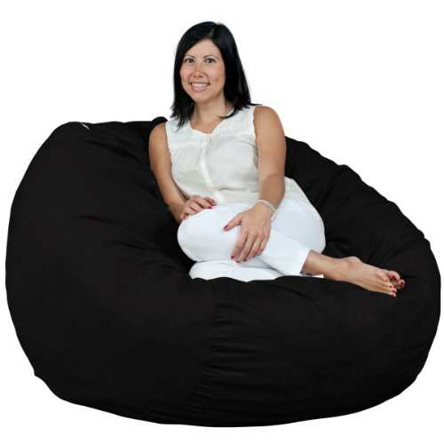 FUGU Bean Bag Chair, Premium Foam Filled 4 XL, Protective Liner Plus Removable Machine Wash Buckskin Cover