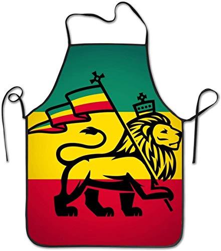 DUTRIX Judah Lion Novelty Adjustable Anti Dirty Bib Apron for Kitchen Apron Cooking Baking Gardening Parties