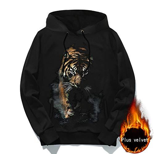 GCC heren 3D tijgerprint hoodie sport vrije tijd voorjaar herfst lange mouwen jas nieuw sweatshirts trekkoord, M-5XL