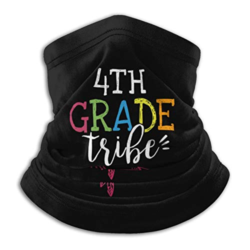 Fourth Grade Teacher Tribe Neck Gaiter Tube Mask Headwear, Motorcycle Face-Mask Face Scarf, Balaclava Black