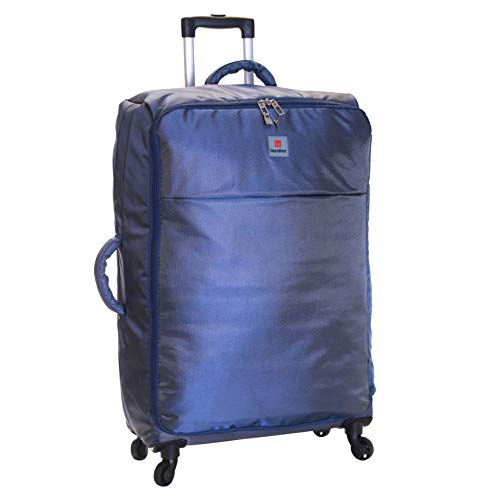 Karabar Extra Large Suitcase Luggage Bag Super Lightweight XL 77 cm 2.9 kg 100 litres with 4 Wheels, Mallorca Navy Blue