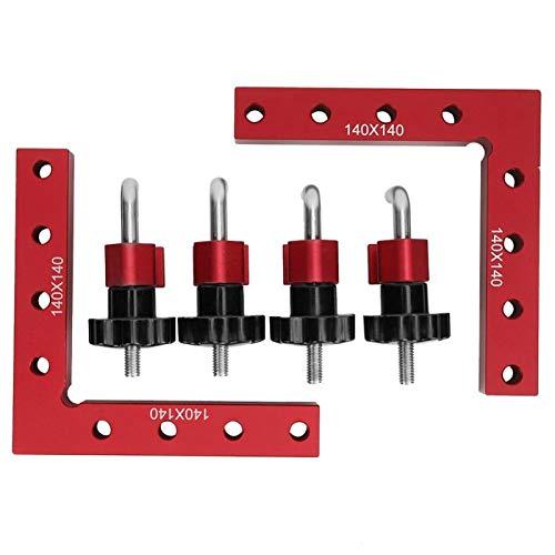 Abrazadera de esquina, herramienta de carpintero para carpintería, regla de posicionamiento de 140 x 140 mm, escuadras de posicionamiento de panel de carpintero, en forma de L para cajas,(140X140MM)