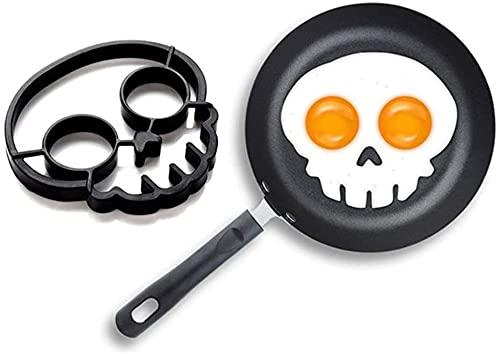Halloween Horror Skull Fried Egg Mold, Egg Pancake Ring Shaped Cooking Tool, Breakfast Omelette Mold, Reusable DIY Omelette Device, DIY Kitchen Accessories Gadgets