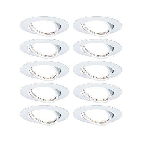 Paulmann EBL 93400 Base LED Einbauleuchte rund max. 10 Watt Einbaustrahler Weiß Einbaulampe Metall Deckenspot GU10