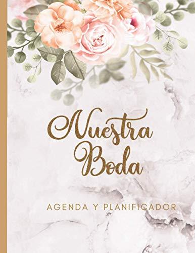 Nuestra Boda Agenda y Planificador: Organizador y Agenda Sin fecha A Color...