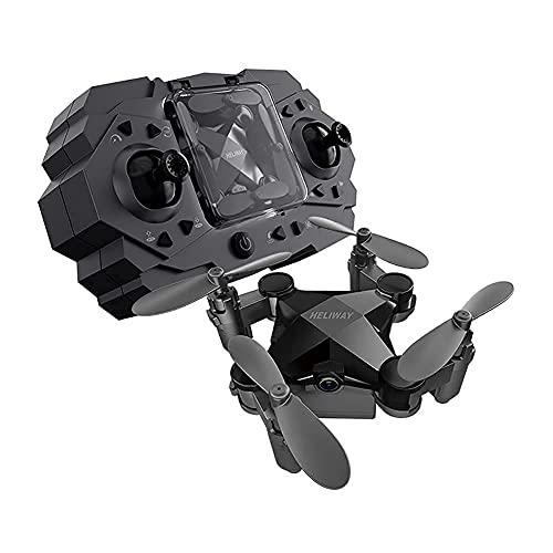 Drone con videocamera Mini drone con videocamera HD per bambini e adulti, drone FPV per principianti RC Quadcopter video live pieghevole pieghevole, controllo app, capovolgimenti 3D e modalità senza