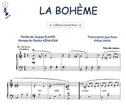 Partition : La Bohème - Piano et Paroles - Feuillet