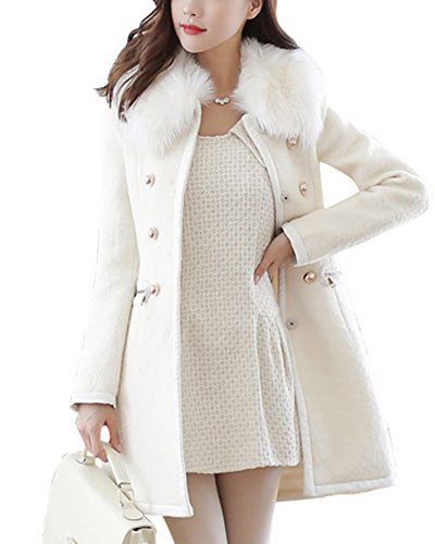 Abrigo blanco elegante