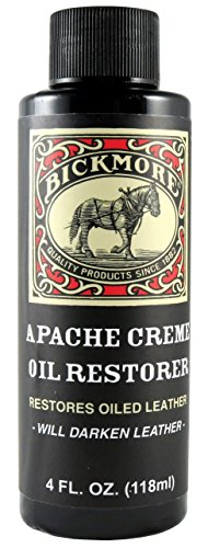 Bickmore Apache Creme Oil Restorer 4 Ounce - Restores Oiled Leather - Great for Apache or Distressed Leather Boots, Shoes, Bags, and More