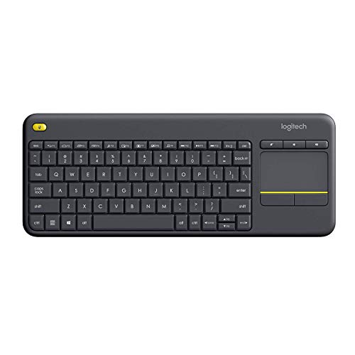 LLogitech K400 Plus Touch Wireless Keyboard Black (QWERTZ, Duitse toetsenbordindeling)