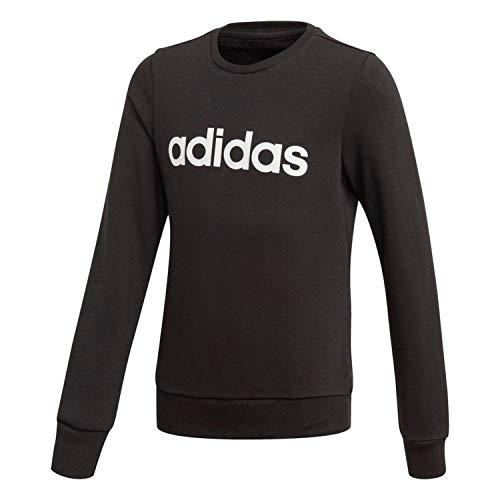 adidas Kinder Essential Linear Sweatshirt, Black/White, 152